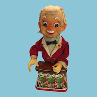 Non-Functioning 1950's Rosko Bartender Battery Operated Tin Toy (Needs Fixing)
