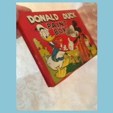 1948, Walt Disney Productions Disney Donald Duck Tin Paint Box