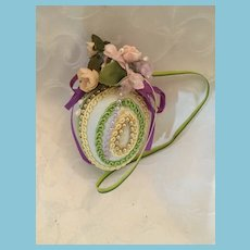 Vintage Hand-embellished Decorated Hanging Egg