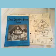 Circa 1960s Swiss Chalet Doll House and Furniture Patterns