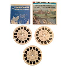 Set of Three Victoria & Vancouver Island View Master Reels