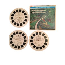 Set of Three Butchard Gardens View Master Reels