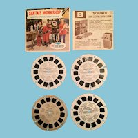 Four 1951 -71 Santa's Workshop View Master Reels