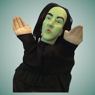 """Wonderful 1988 MGM/ Turner 10"""" Wizard of Oz Wicked Witch Hand Puppet"""