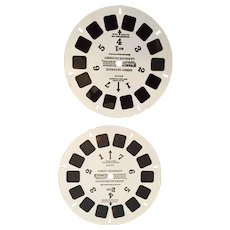 Two 1973 View Master Reels of 'Disney on Parade'.