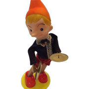 Circa 1940s Walt Disney Cymbal-Playing Wind-Up  Working Pinocchiol Tin Toy