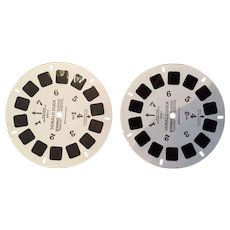 Two GAF View Master Reels of Donald Duck