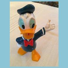 "Vintage  7"" Walt Disney Company Hard Plastic Donald Duck"