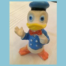 """Very Early Soft 7"""" Plastic Donald Duck Squeaky Toy"""