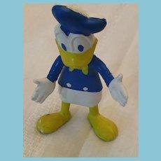 "Circa 1960s Walt Disney Productions  5 1/2"" Soft Rubber Bendable Donald Duck"