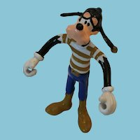 "Circa 1980s 'Walt Disney Productions ARCO' 6"" Soft Rubber Bendable Goofy"