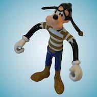 "Circa 1980s 'Walt Disney Productions ARCO' 6"" Soft Rubber Bendable Goofy"