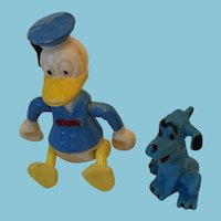 "Group of a Circa 1960s Walt Disney Productions  3"" Donald Duck and Pluto"