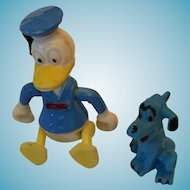 """Group of a Circa 1960s Walt Disney Productions  3"""" Donald Duck and Pluto"""