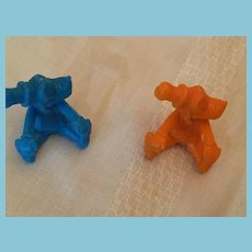 Group of Two Vintage 2 inch Goofy Figure Pencil Caps