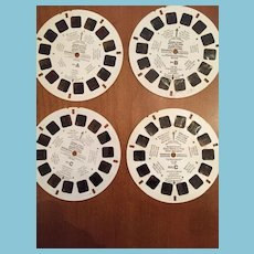 Four 1982 View Master Reels of Sesame Street Characters