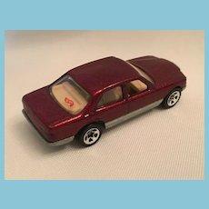 1991 Diecast Metallic Maroon Hot Wheels Mercedes Benz 380 SEL