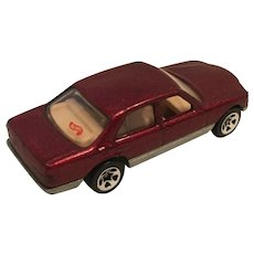 1991 Diecast Metallic Maroon Hot Wheels Mercedes Benz 380 SEL