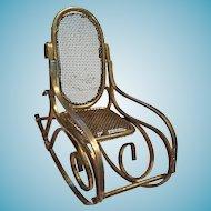 Circa 1960s Brass Bent 'Wood' Rocking Chair