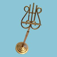 Circa 1960s Bent Brass Dollhouse Music Stand