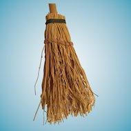 Dollhouse 'Witches' Broom' with Stiff Straw