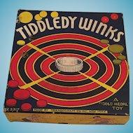 1937 Transogram Gold Medal Toy Tiddledy Winks Game