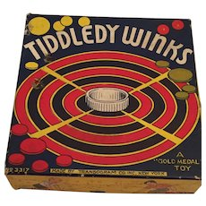 1937 Transogram Gold Medal Toy Tiddledy Winks Game