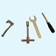 Circa 1980s -90s Group of 5 Dollhouse/Miniature Garage Tools