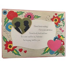 Circa 1920s Carrington (Chicago) Silouetted Couple Valentine Card
