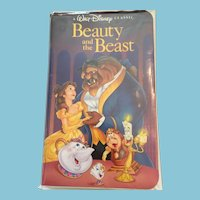 RARE BLACK DIAMOND highly collectible Walt Disney Classic VHS video 'Beauty and the Beast'