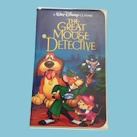 RARE BLACK DIAMOND Walt Disney Classic VHS video 'The Great Mouse Detective'