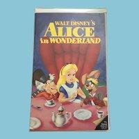 RARE BLACK DIAMOND Walt Disney Classic VHS video 'Alice in Wonderland - The Original Animated Classic'