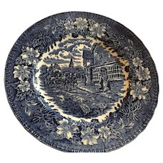 Coaching Taverns 1828 Royal Tudor Ware Plate, Staffordshire England.