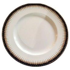"Roi de Bleu 10"" Alfred Meakin Plate with 18 Kt. Gold Trim"