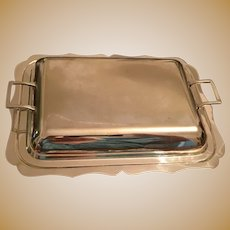"""Elegant Silver Plate 10"""" x 7 1/2"""" Covered Vegetable Dish"""