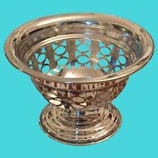 """Silver Plate 3"""" Stemmed Trinket Bowl"""