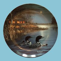 Moonlight Echoes: First in The Loon Collection Series by artist Jim Hansel