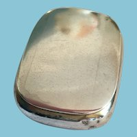 Very Old  Tiny Unmarked Silver Hinged Pill Box