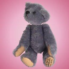 Miniature Clipped Mohair, Artist Made, Blue-Grey  Bear