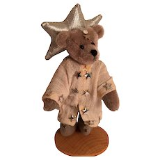 "'Austria' Hermann Teddy Original 3 1/2"" Miniature Blue-Grey Sorcerer"
