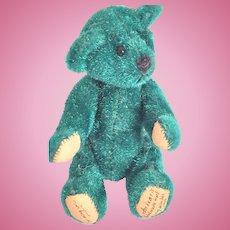 Artist Made Clipped Mohair Miniature Forest Green Bear