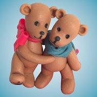 Artist Made Commemorative 'Washington Teddy Bear Lovers' in Display Case