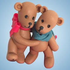 Artist Made Commemorative 'Washington Teddy Bear Lovers' in Display Case
