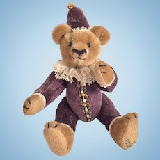 """3"""" Jester Miniature Bear by Cathy Chung of Larious Bears"""