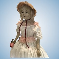Large Wax Over Doll ca. 1830