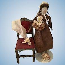 18th French Carton Moulé Doll