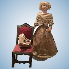 Early 1820 Wax Over Doll