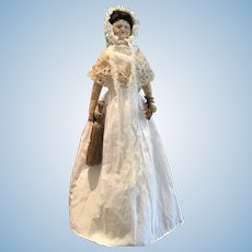 Antique French 18th Century Carton Moule Doll