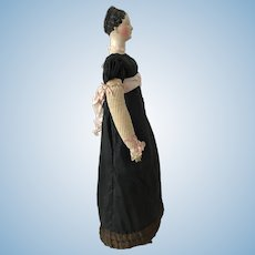 Early 1820 Papier Mache doll