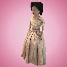 Antique Andreas Voit Papier Mache Doll ca. 1840